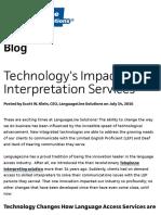 Technology's Impact on Interpretation Services