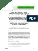 Dialnet-EvaluacionInVitroDeLaActividadAntiplasmodialYCitot