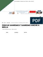 Perche Sanremo e' Sanremo Anche a Biella – Biella Cronaca