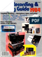 HiFi Stereo Review 1984 Tape Recording Guide