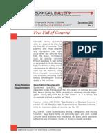 Tech Bull 3 - Free Fall of Concrete