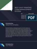 Best Shot Printing Loan Management System