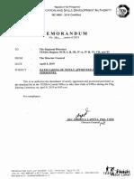 Memorandum No. 141-2019