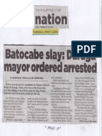 Philippine Star, May 7, 2019, Batocabe slay Daraga mayor ordered arrested.pdf
