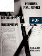 prethesis final report redevelopment of rythubazar in mehidepatnam