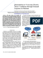 Smart Grid Implementation to Overcome Electric Power System Stress Conditions through Demand Response in Pakistan