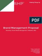Brand Management Proposal - Bhukamp