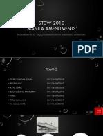 STCW 2010 MANILA AMANDEMENTS