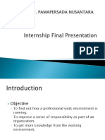 Internship Final Report (PT. Pamapersada Nusantara)