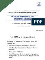 Corporate Finance - Yield to Maturity