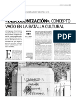 Serie Elecciones III- Descolonizacion