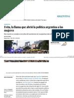 Evita, La Llama Que Abrió La Política Argentina a Las Mujeres