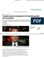 Turquía Anula Las Municipales de Estambul Ganadas Por La Oposición