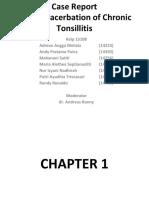 Laporan kasus Tonsilitis Kronis