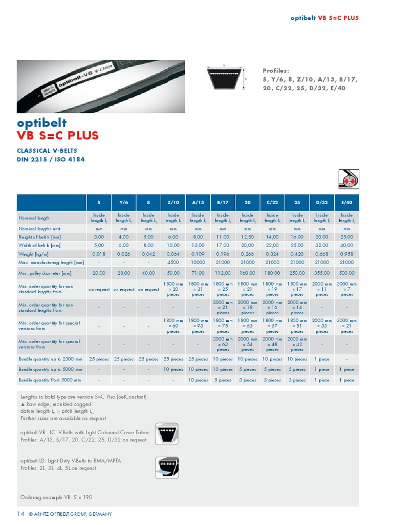 D/&D PowerDrive XPA1082 or SPAX1082 V Belt  13 x 1082mm  Vbelt