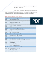 Program Outline for the PADI Open Water