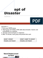 1. Concept of Disaster