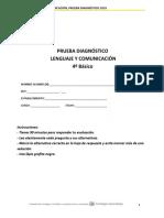 PME Diag Lenguaje 4 Basico 2019