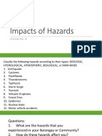8. Impacts of Hazards