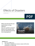 3. Effects of Disasters