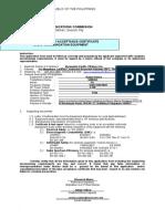 Rce Application Form