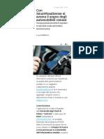 Con Smart road sense si avvera il sogno degli automobilisti romani - Corriere.it, 3 maggio 2019