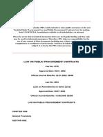 Public Procurement Contracts Law