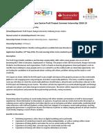 Profi Internship 2019 - Digital Marketing Intern