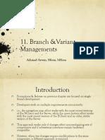 11. Branch _ Variant Management