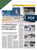 Confusión Por Nuevas Reglas en Miraflores