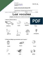 Guía N° 1 Leng. Vocales