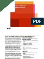 PWC - Finance Function Transformation