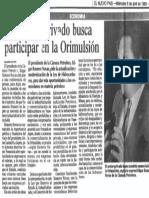 Edgard Romero Nava - Sector Privado Busca Participar en La Orimulsion - Diario El Pais 06.04.1988