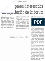 Edgard Romero Nava 7 Empresas Interesadas en Explotacion de La Barita - El Universal 07.04.1988