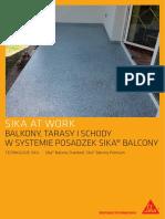 SAW System Posadzek Sika Balcony