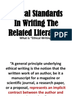 Ethical Standards in Writing the Related Literature