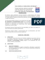 BASES DEL  CONCURSO DEC IENCIAS Y HUMANIDADES 2019