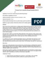 CY-Profi Internship 2019 - Fundraising Internship
