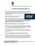 Procedimiento Tapon Recuperable WRP