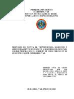 PROPUESTA DE PLANTA DE TRANSFERENCIA, SELECCIÓN Y APROVECHAMIENTO DE RESIDUOS Y DESECHOS SÓLIDOS PARA LOGRAR MEJORAS EN EL SERVI.docx