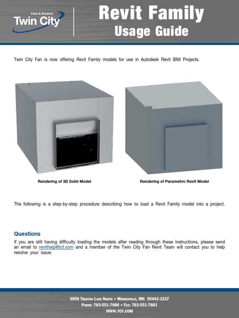 Twin City Fan - Revit Family Usage Guide pdf | Autodesk Revit