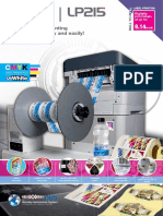 lp215 label printer brochure