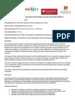Profi Internship 2019 - Student Engagement Internship