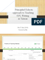 A Principled Eclectic Approach to Teaching EFL Writing