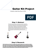 electric guitar kit project