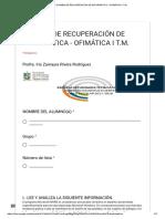 Examen de Recuperación de Informática - Ofimática i t.m