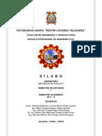 Silabo Mecanica de Suelos i 2017-II