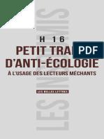 H16 - Petit Traité d'Anti-écologie