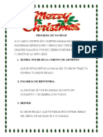 Progrma de Navidad