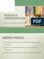Hitos de La Codificación Civil
